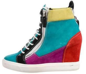 Giuseppe Zanotti Suede Wedge Sneakers
