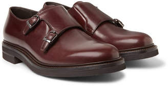 Brunello Cucinelli Leather Monk-Strap Shoes