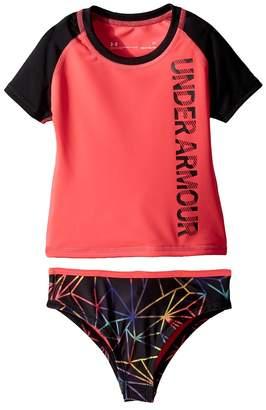 Under Armour Kids Polyprism Rashguard Set Girl's Swimwear Sets