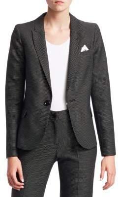 Emporio Armani Birdseye One-Button Blazer