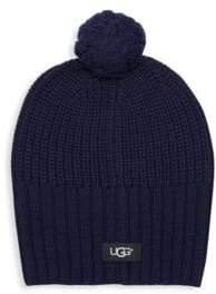 UGG Knit Wool Blend Pom-Pom Beanie