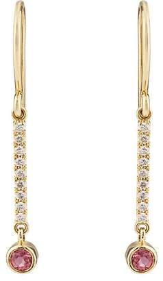 Jennifer Meyer Womens Pink Sapphire Bezel Mini Stick Drop Earrings lD2an