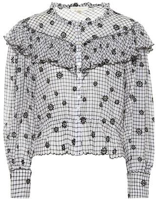 LoveShackFancy Susanne printed cotton top