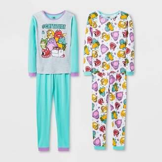 Hasbro Girls' Lost Kitties 4pc Pajama Set - Blue