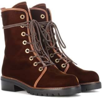 Stuart Weitzman Exclusive to mytheresa.com Metermaid velvet ankle boots