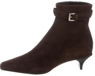 pradaPrada Suede Ankle Boots