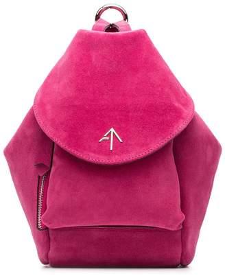 Atelier Manu fuchsia Fernweh Mini suede backpack