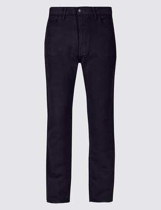 M&S Collection Italian Moleskin Regular Fit 5 Pocket Trousers