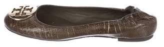 Tory Burch Embossed Leather Reva Flats