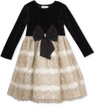 Rare Editions Black Velvet & Gold Party Dress, Toddler & Little Girls (2T-6X) $74 thestylecure.com