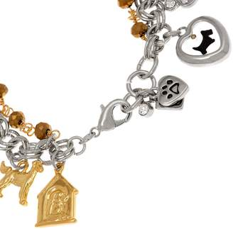 John Wind Double Chain Antiqued Charm Bracelet