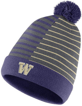 12219265e38 Nike Washington Huskies Striped Beanie Knit Hat