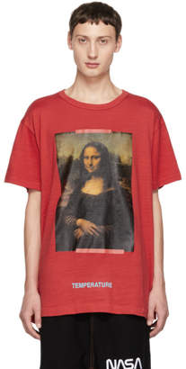 Off-White SSENSE Exclusive Red Mona Lisa T-Shirt