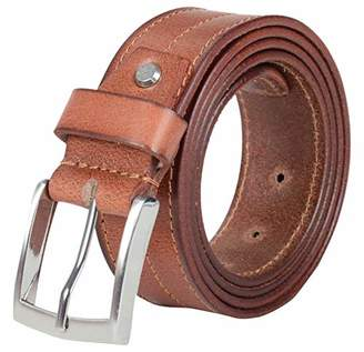Leather Architect Men's Real Leather Tonal Stitch Belt
