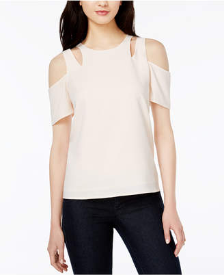 Bar Iii Cutout Cold-Shoulder Top, Created for Macy's $59.50 thestylecure.com