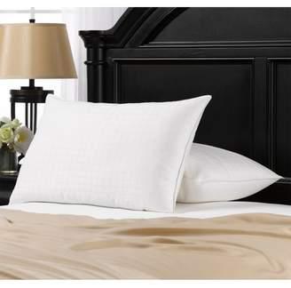 "Ella Jayne Home Soft Gel Filled Cotton Dobby Windowpane Shell Stomach Sleeper King Pillow - Set of 2 - 20\""x36\"""