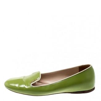 Prada Green Patent leather Flats