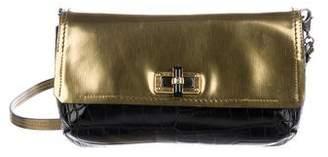 Lanvin Dual-Tone Leather Flap Bag