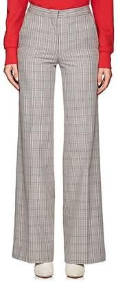 Off-White Women's Plaid Cotton-Blend Trousers