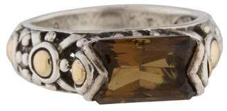 John Hardy Two-Tone Smoky Quartz Ring