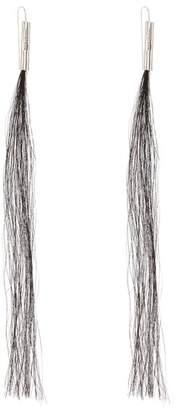 Helmut Lang Horse Hair 2004 Earrings - Womens - Silver