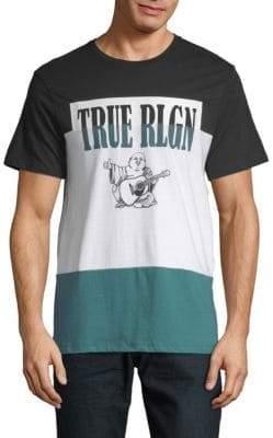True Religion Colorblock Cotton Tee