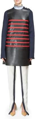 Alberta Ferretti Women's Long Sleeve Striped Short Dress