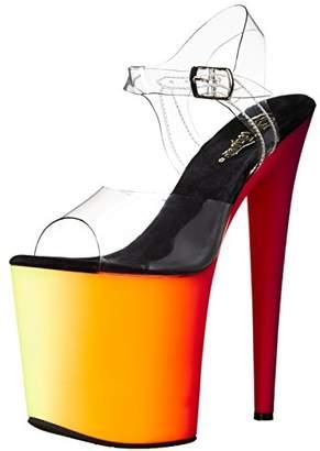 Pleaser USA Women's Rbow808uv/C/Nmc Platform Dress Sandal
