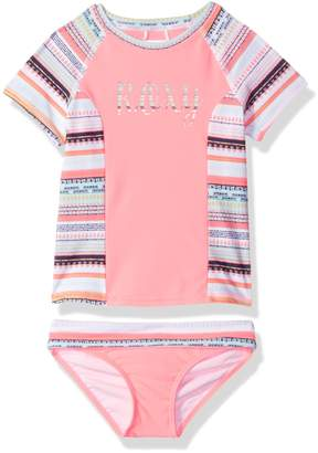 Roxy Little Girls' Indi Short Sleeve Rashguard and Bottom Set
