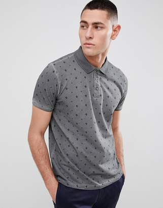 Brave Soul All Over Cactus Print Polo Shirt