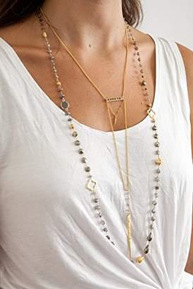 Chan Luu Mystic Lab Mix Gold Motif Layering Necklace