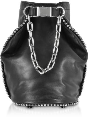 Alexander Wang Attica Black Nappa Soft Dry Bucket Bag W/ball-chain