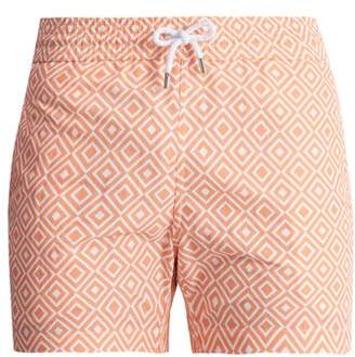 Frescobol Carioca - Angra Sports Printed Swim Shorts - Mens - Orange