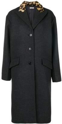 Miu Miu faux fur collar coat