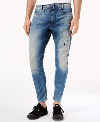 G Star Men's D-Staq 3D Super-Slim Fit Stretch Destructed Jeans, Created for Macy's