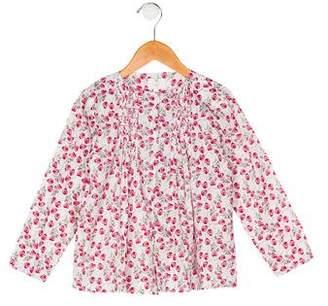 Liberty of London Designs Girls' Floral Print Long Sleeve Top