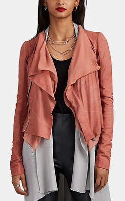 Rick Owens Women's Blistered Leather Jacket - Pink