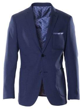 Paisley and Gray Dotted Suit Jacket