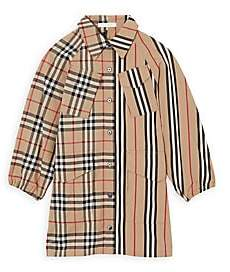 Burberry Little Girl's & Girl's Teigan Mix Vintage Check & Tartan Shirt