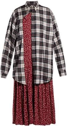 Balenciaga Layered cotton shirtdress