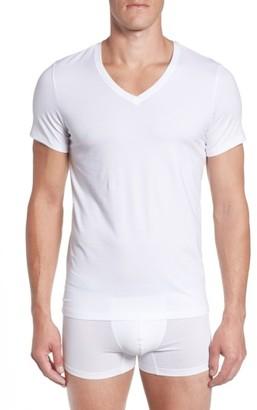 Men's Hanro V-Neck T-Shirt $68 thestylecure.com