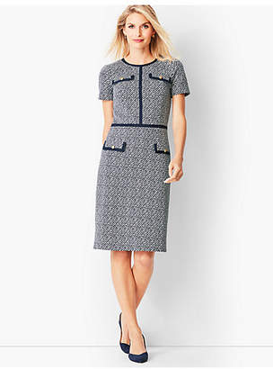 Talbots Textured Stripe Ponte Sheath Dress