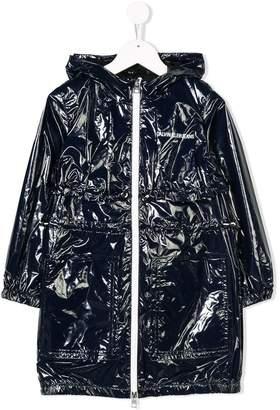 Calvin Klein Kids hooded midi raincoat