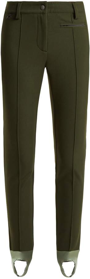 FENDI High-rise stirrup-hem ski trousers