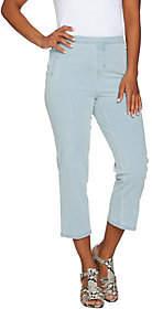 Isaac Mizrahi Live! Regular 24/7 Denim Pull-OnCrop Jeans