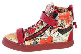Giuseppe Zanotti Pattern Print High-Top Sneakers