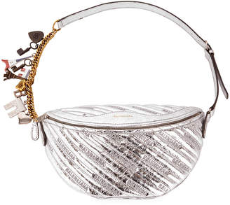 Balenciaga Quilted Metallic Souvenir Belt Bag