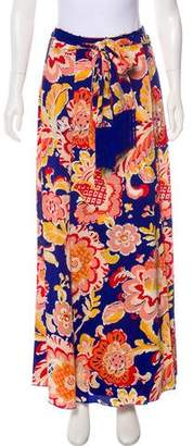 Tory Burch Silk Floral Print Skirt