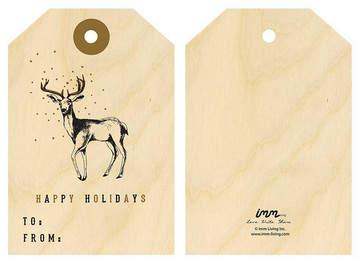 Woodwork Gift Tags – Deer