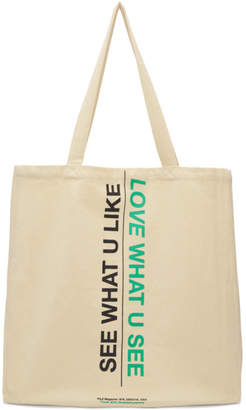 Perks And Mini Ecru Nature/Culture Tote Bag
